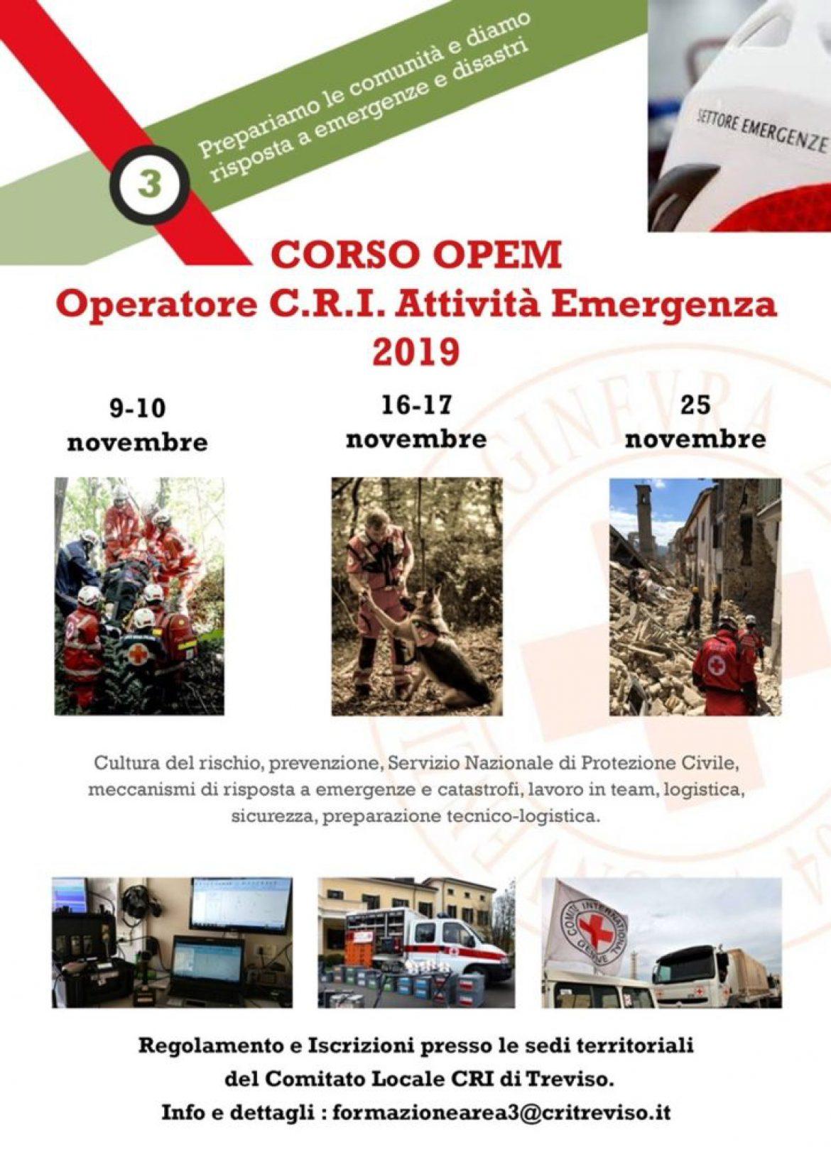 Corso OPEM – Operatore CRI Attività Emergenza